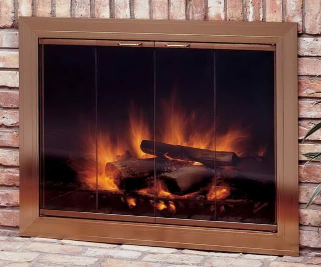 Cleaning A Fireplace Glass Doors