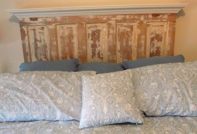 Distressed Wood Headboard Diy