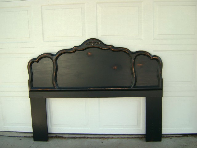 Distressed Wood Headboard Full