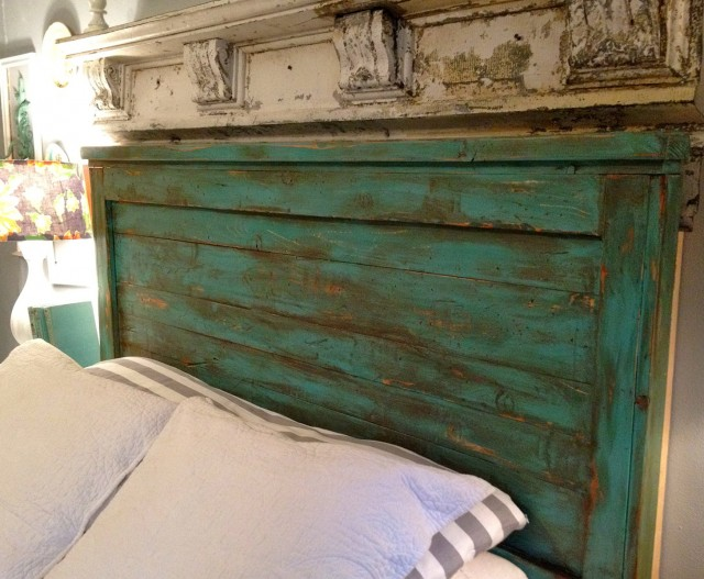 Distressed Wood Headboard Queen