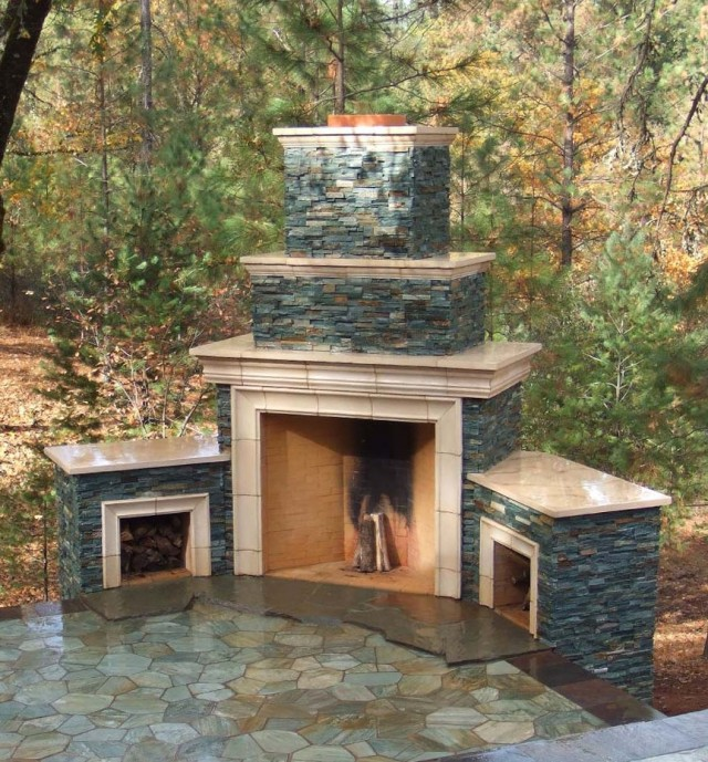 Do It Yourself Outdoor Fireplace Designs