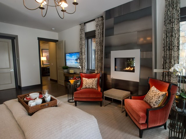 Double Sided Fireplace Master Bedroom