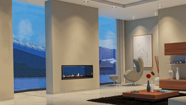 Dual Sided Fireplace Indoor Outdoor