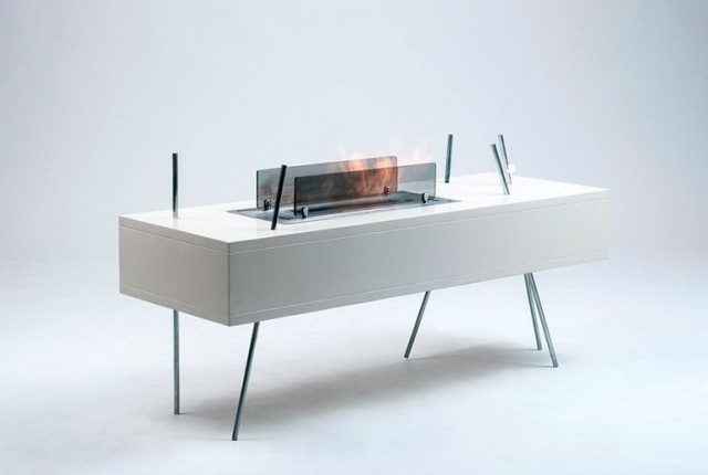 Electric Fireplace Coffee Table
