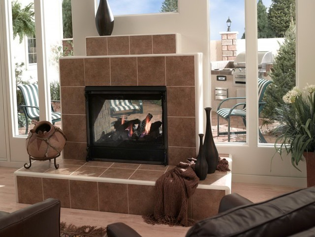 Fireplace Surrounds Using Glass Tile