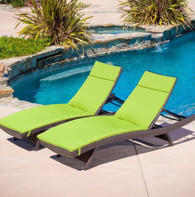 Green Chaise Lounge Cushions