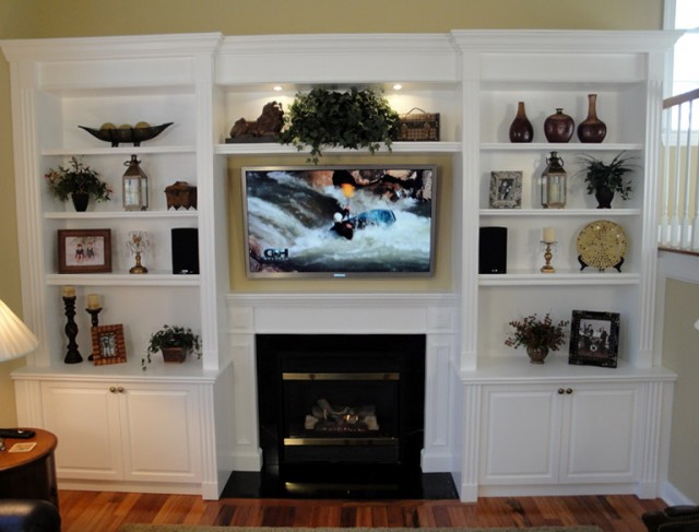 Ideas For Built In Shelves Around Fireplace