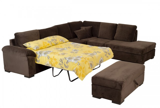 Leather Chaise Lounge Sofa Bed