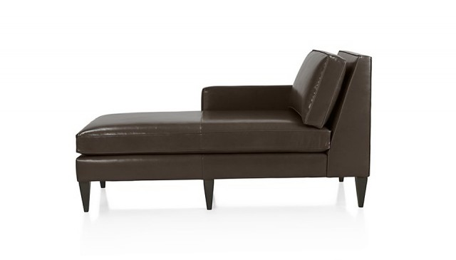 Leather Chaise Lounge With Arms