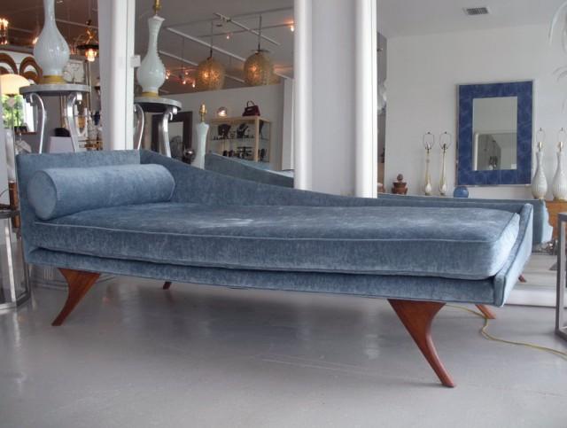 Mid Century Modern Chaise Sofa