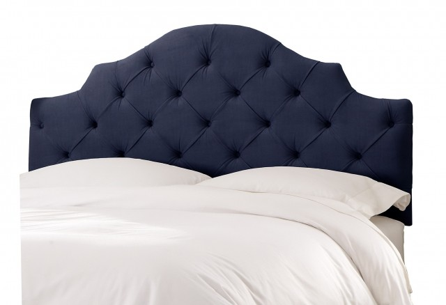 Navy Blue Velvet Headboard