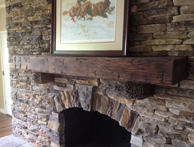 Old Barn Wood Fireplace Mantels