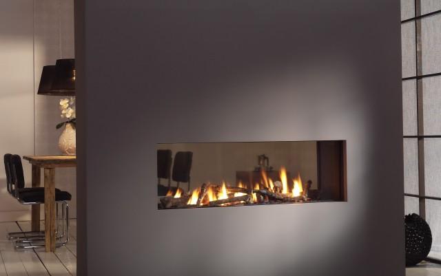 Open Face Gas Fireplace