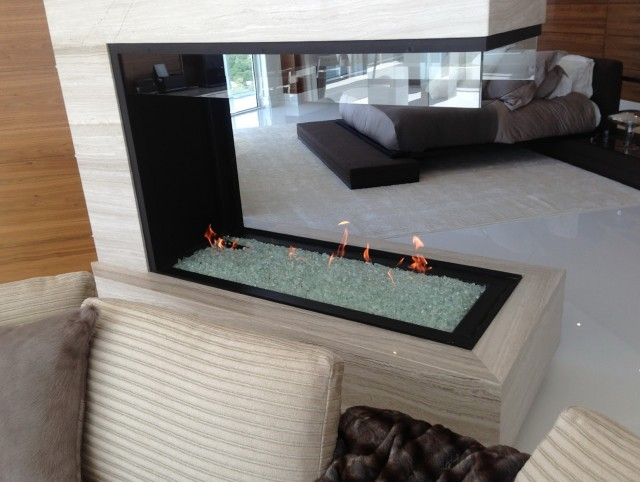Open Flame Gas Fireplace