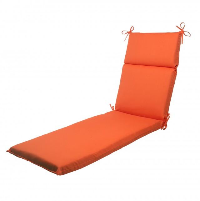 Orange Chaise Lounge Cushion