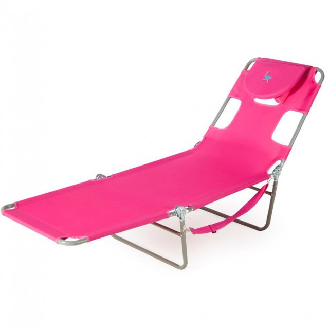 Ostrich Chaise Lounge Pink
