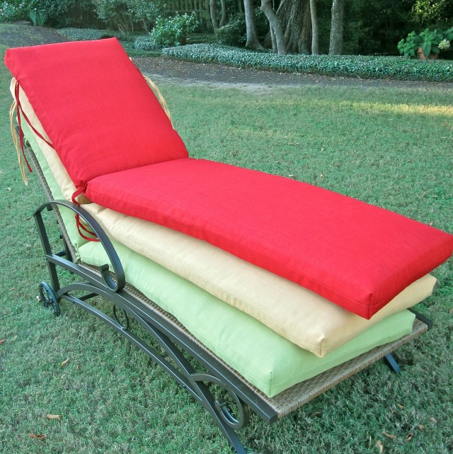 Outdoor Chaise Cushion Slipcover