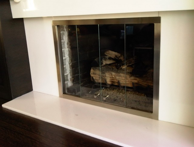 Sliding Glass Fireplace Doors