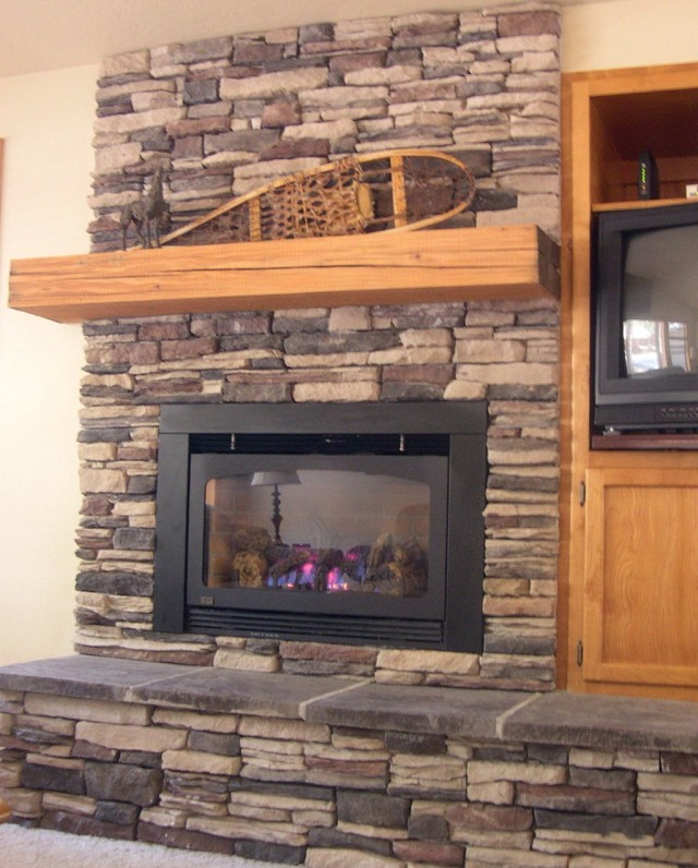 Stacked Stone Fireplace Surround Kits