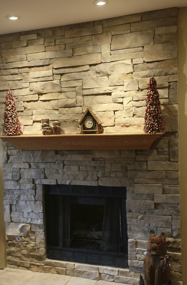 Stacked Stone Fireplaces Pictures