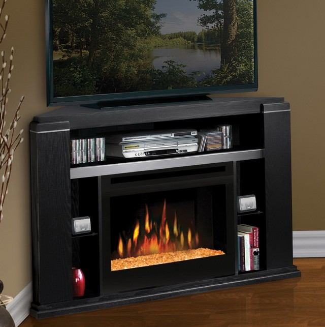 Summer Corner Media Fireplace
