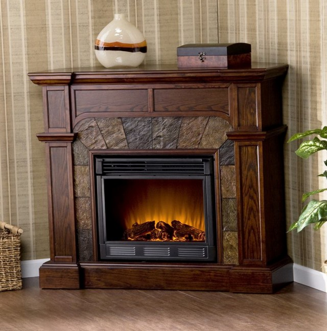 Tall Corner Electric Fireplace