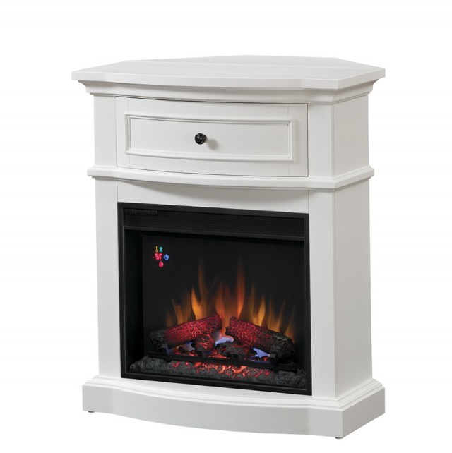 Tall White Electric Fireplace