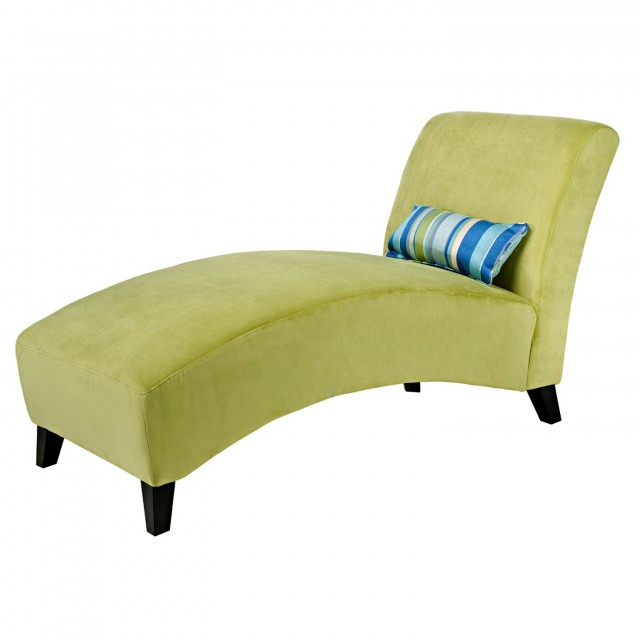 Upholstered Chaise Lounge With Arms