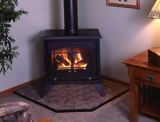 Vent Free Gas Fireplace Corner Unit