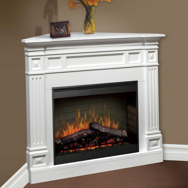 Ventless Gas Fireplace Corner Unit