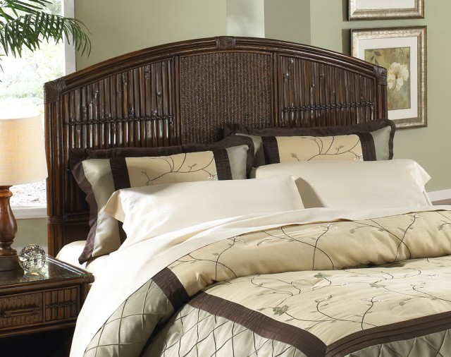Wicker Headboard King Size Bed