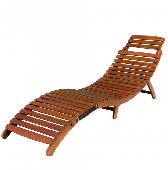Wooden Chaise Lounge Chair