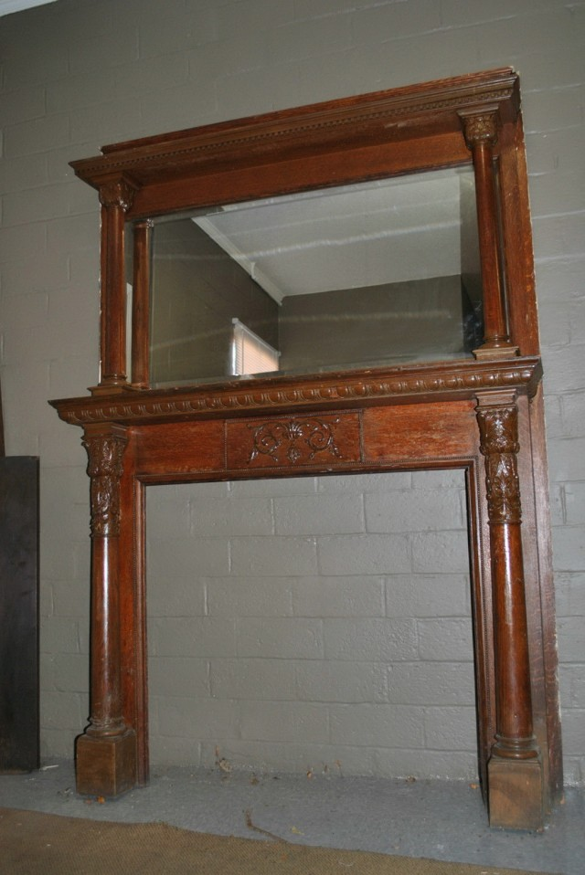 Antique Oak Fireplace Mantels For Sale