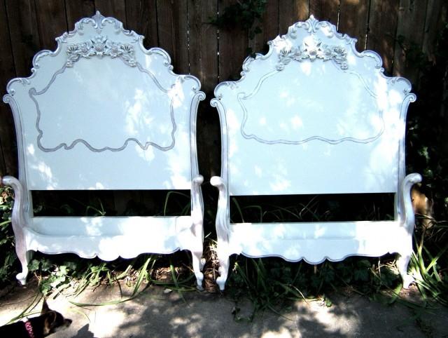 Antique White Twin Headboard