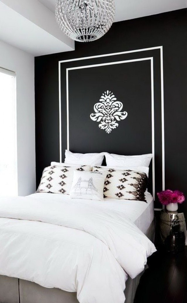 Black And White Headboard Ideas