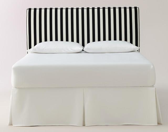Black And White Striped Headboard