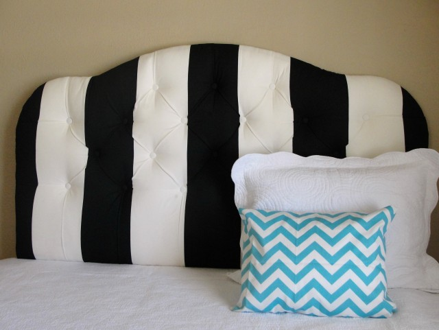 Black And White Tufted Headboard