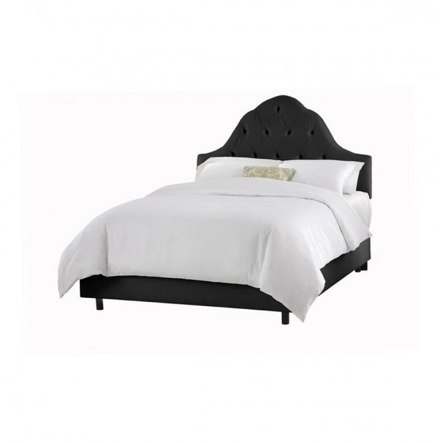 Black Tufted Headboard Full
