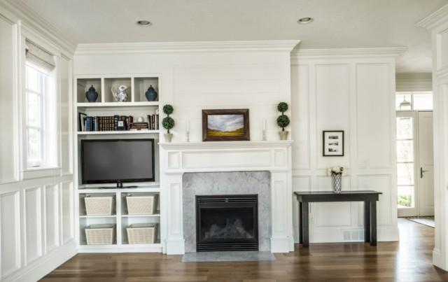 Built In Fireplace And Tv