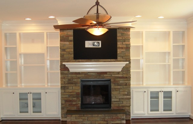 Built In Fireplace Bookshelves