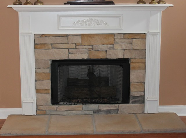 Diy Stone Fireplace Makeover