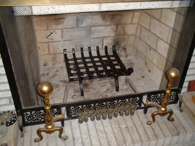 Fireplace Log Rack Inside Fireplace