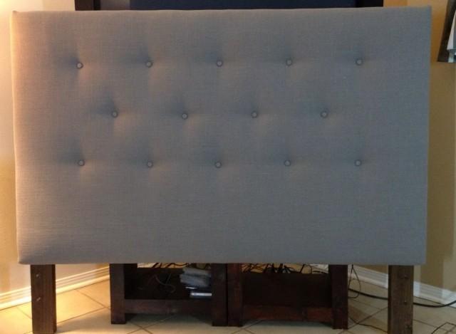 Grey Upholstered Headboard King