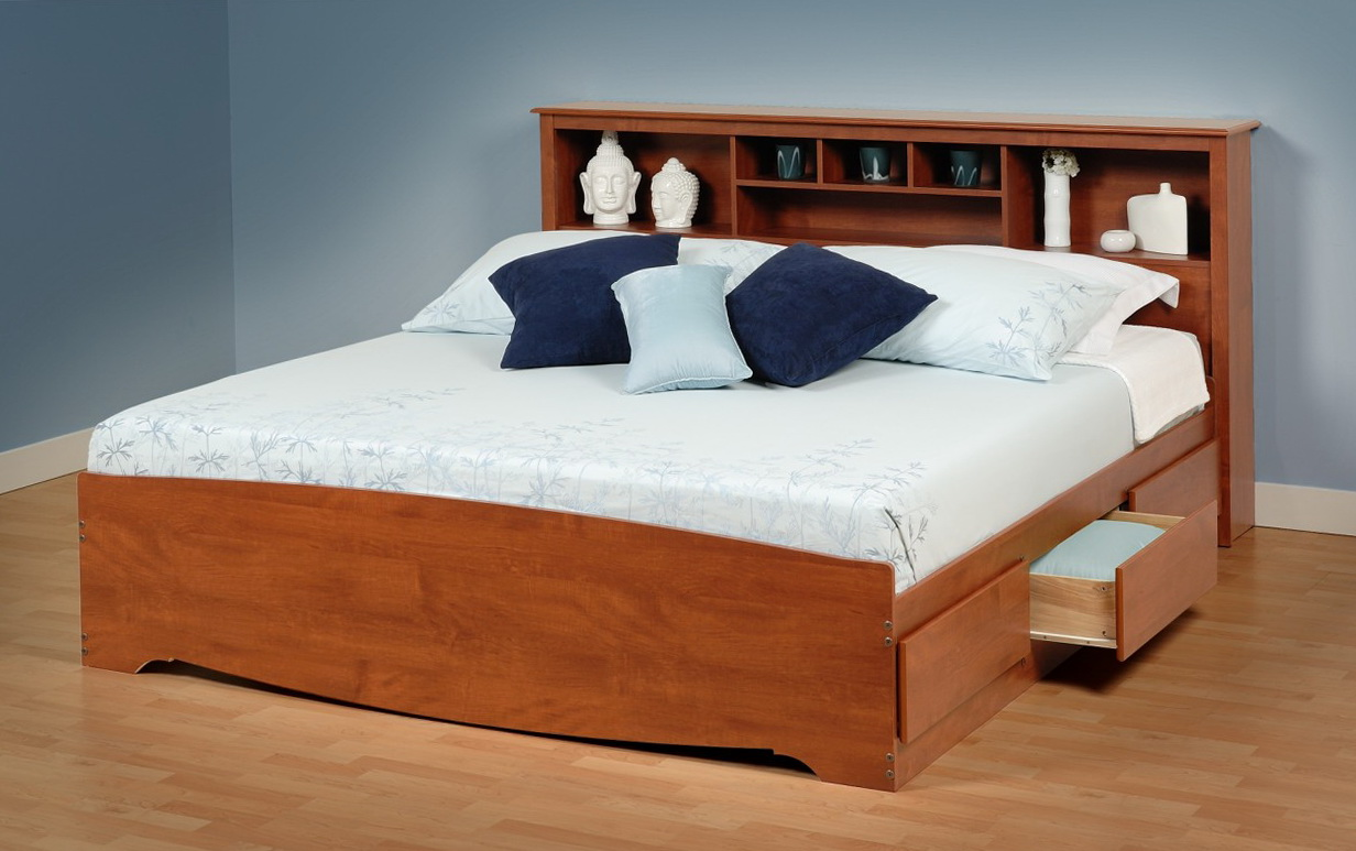 King Size Bed Frame With Headboard Storage