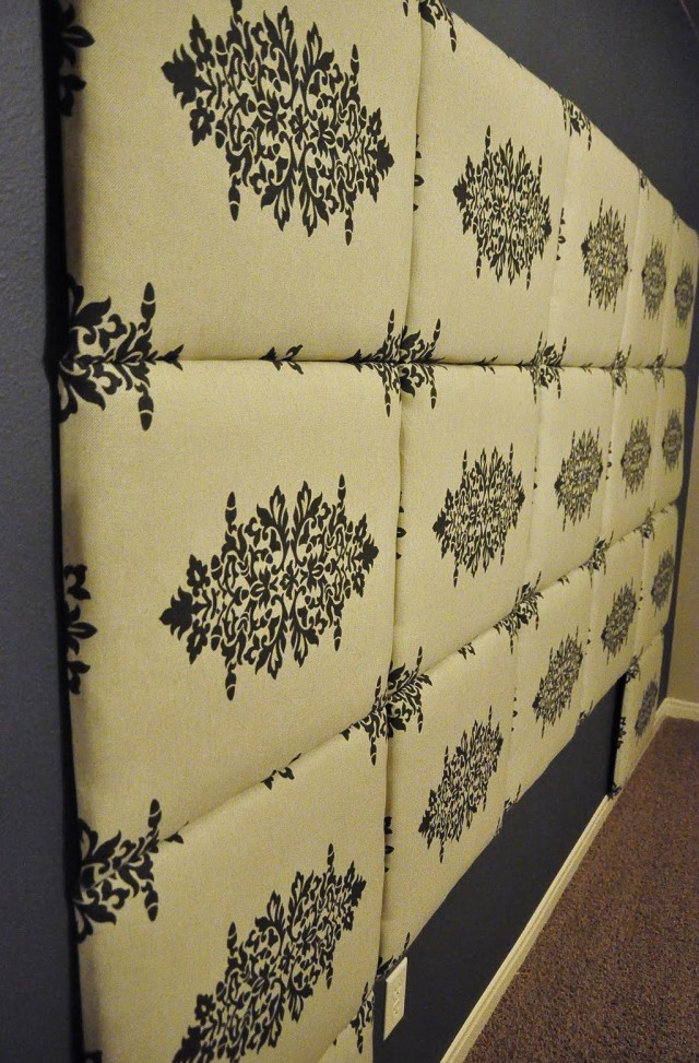 Make Your Own Headboard With Fabric