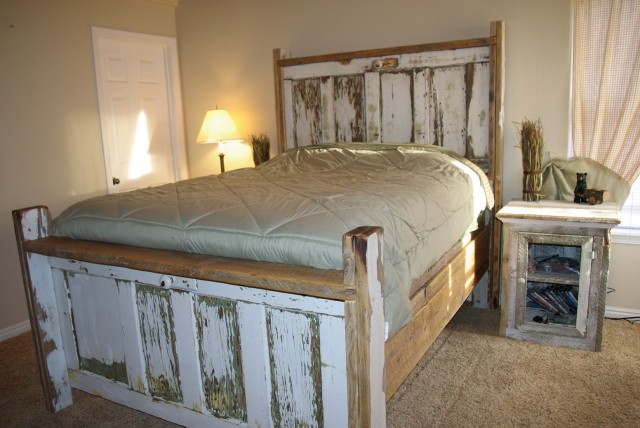 Making A Headboard Out Of An Old Door