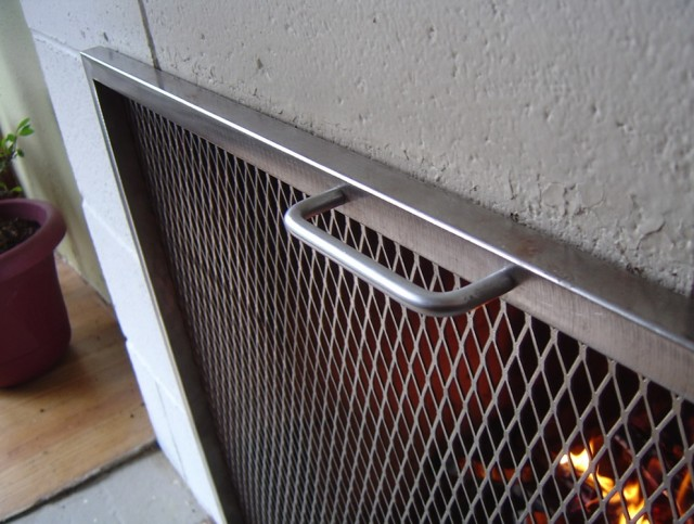 Mid Century Modern Fireplace Screen