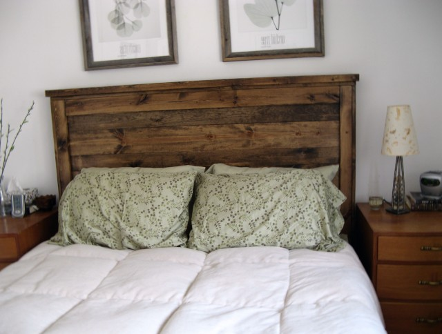 Natural Wood Headboard Designs