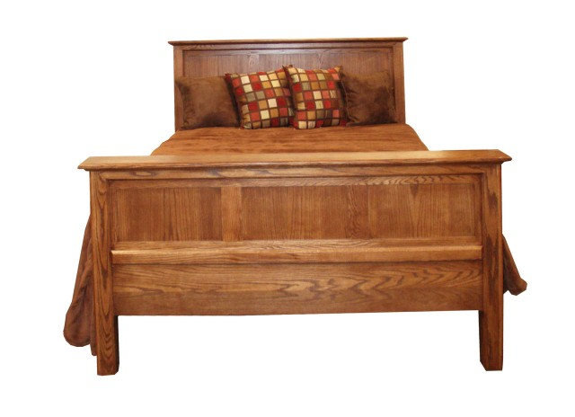 Oak Queen Headboard And Footboard