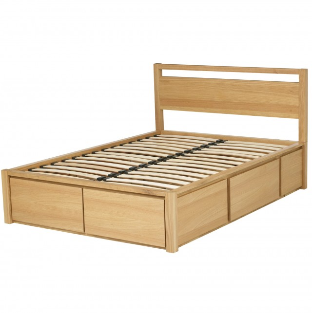 Oak Queen Headboard With Storage